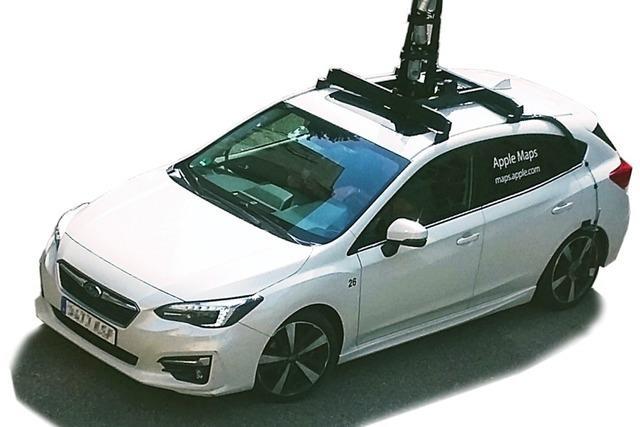 Kameraautos von Apple erfassen Südbaden - ohne großen Gegenwind