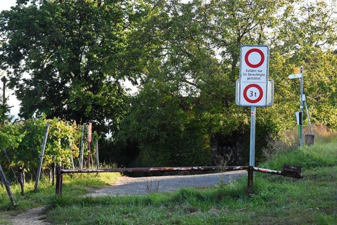 Die Schranken an der Grenze zur Schweiz gibt es erst seit der RAF-Zeit.    Foto: Kathrin Ganter