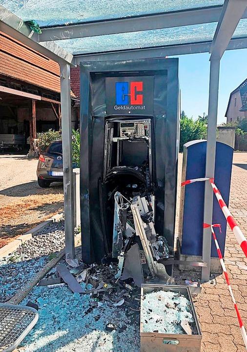 Der Automat nach dem Angriff  | Foto: Privat