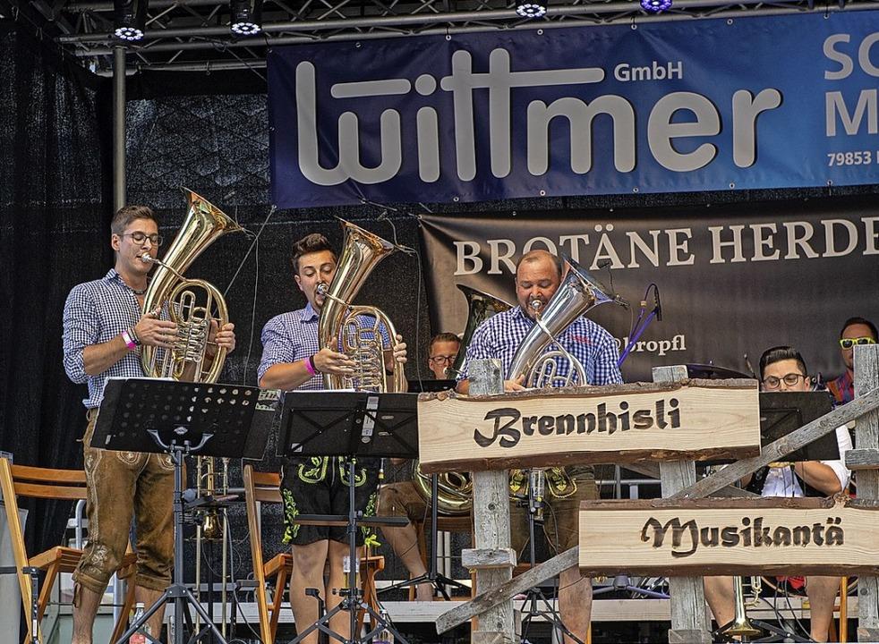 Die Brennhisli Musikantä sorgten für Stimmung.  | Foto: Wolfgang Scheu