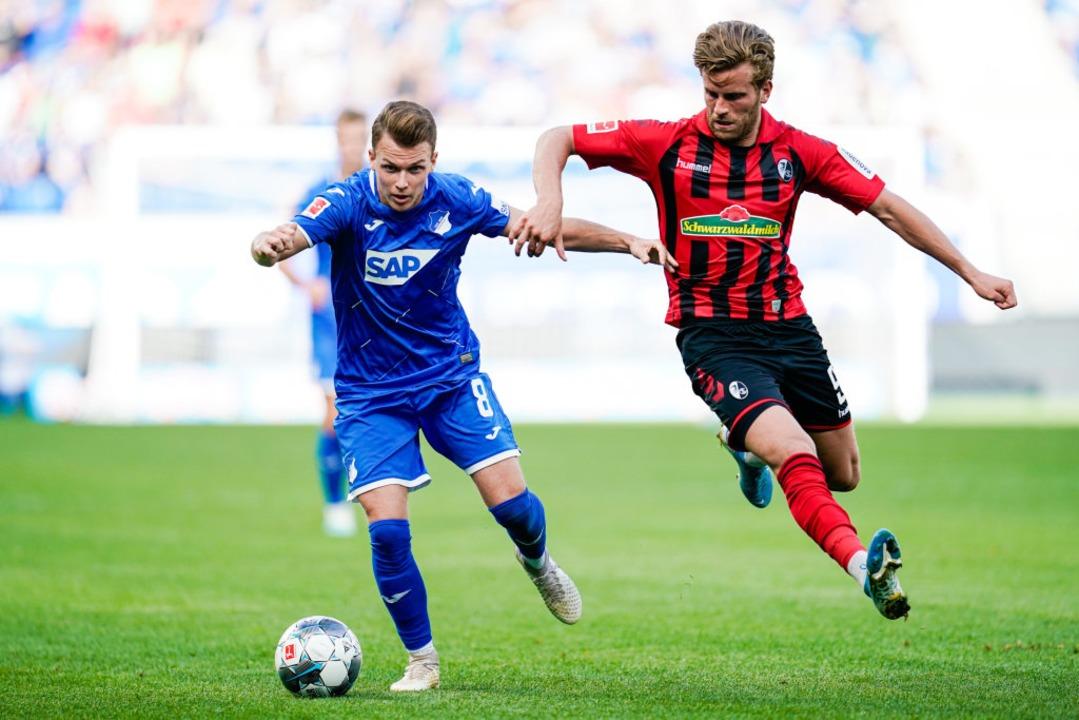 Lucas Höler zeigte gegen Hoffenheim eine sehr gute Leistung.  | Foto: Uwe Anspach (dpa)