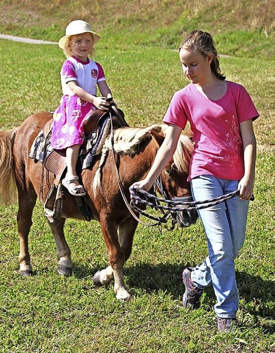 Die Ponys der Grusilochranch drehten fröhlich ihre Runden.  | Foto: Yvonne Rünzi