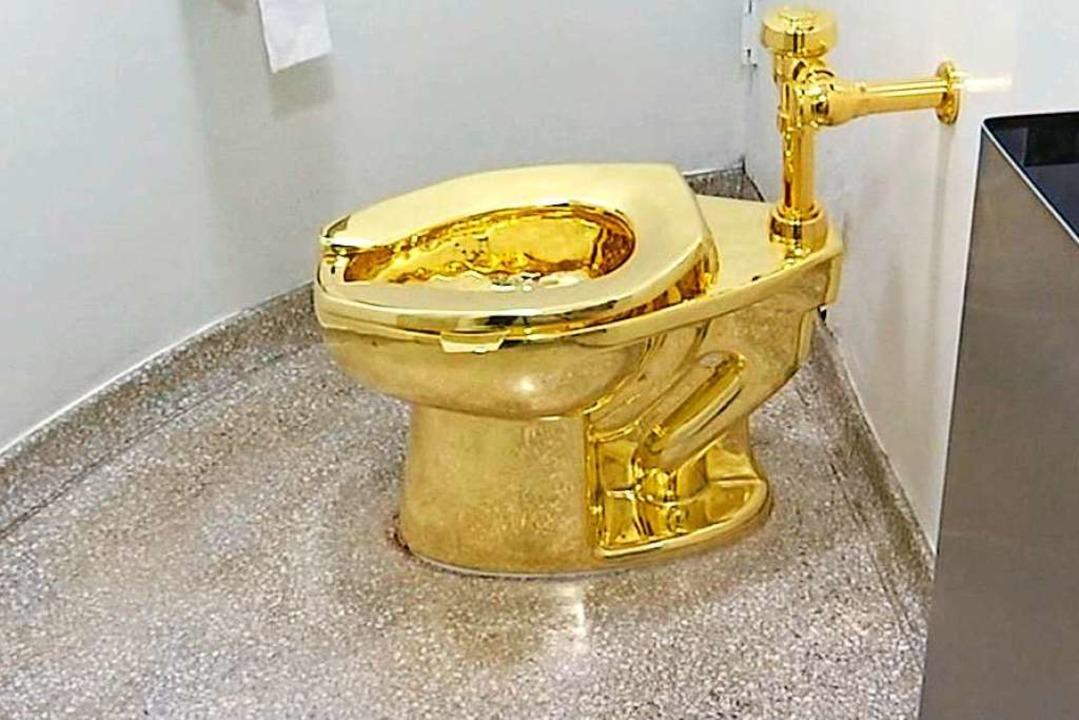 Aus 18-Karat Gold besteht die nun gest...n, ist über 1, 1 Millionen Euro wert.   | Foto: - (dpa)