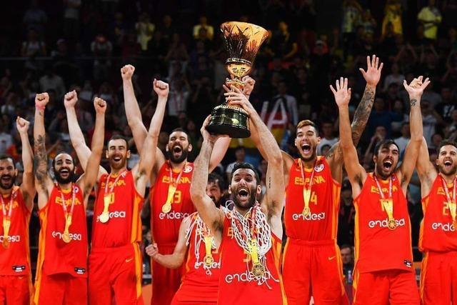Die Spanier sind beim Basketball die Größten