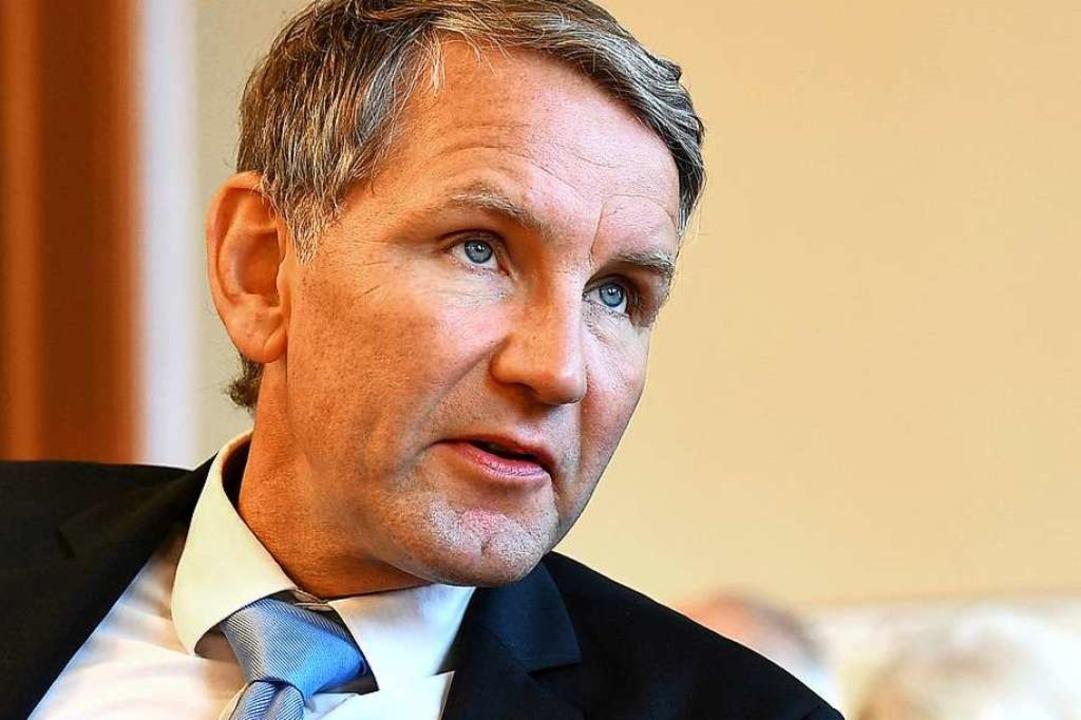 Björn Höcke träumt von politischer Größe.  | Foto: Martin Schutt (dpa)