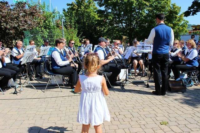 Beim Tag der Blasmusik in Binzen hören die Besucher Musik vom Feinsten