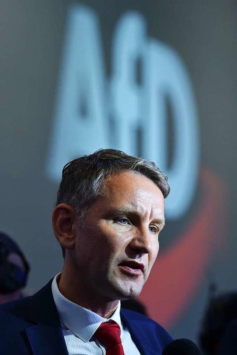 Björn Höcke ist nach seinem Interview-... in aller Munde – wieder einmal.  | Foto: CHRISTOF STACHE (AFP)