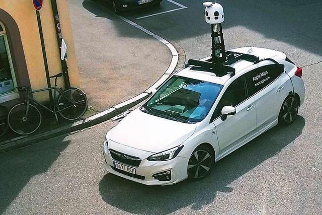 Kameraautos von Apple erfassen Südbaden – ohne Gegenwind
