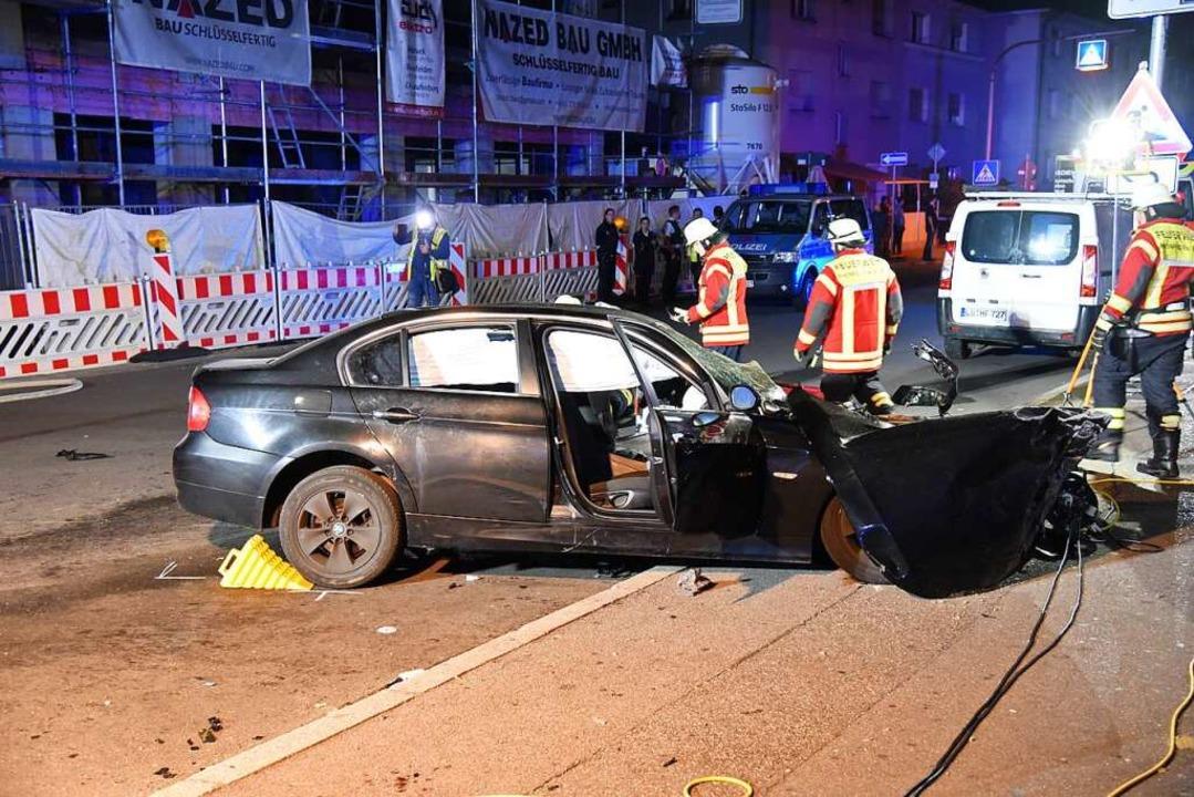 Der Unfall ereignete sich mitten in der Stadt.  | Foto: Martin Eckert