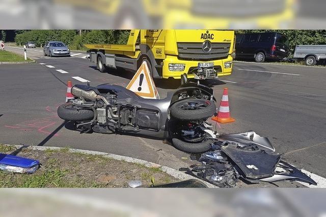 Verletzte und hohe Schäden durch Motorradunfälle