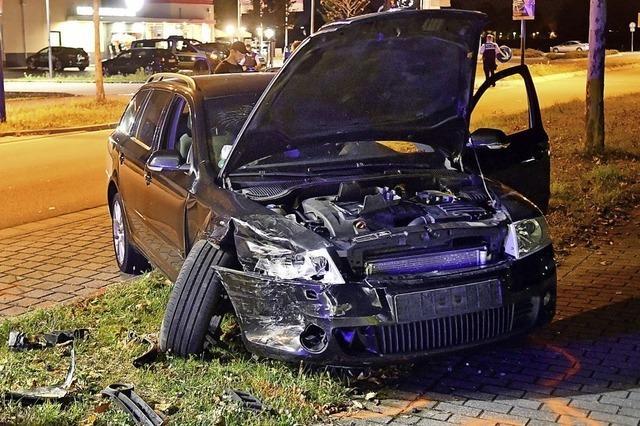 Unfall nach Überholmanöver