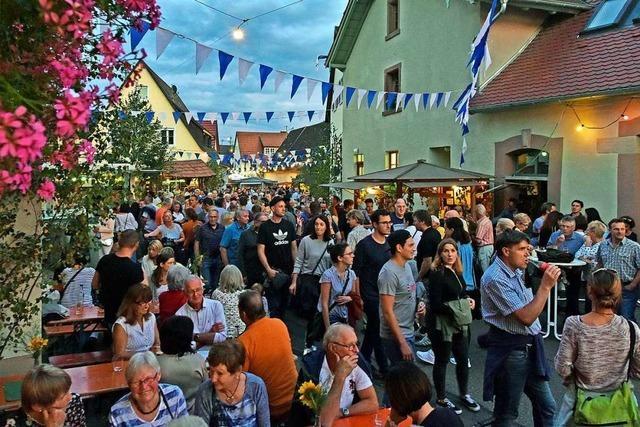 Waltershofener Wein- und Dorffest erwischte ein Wochenende mit perfektem Wetter