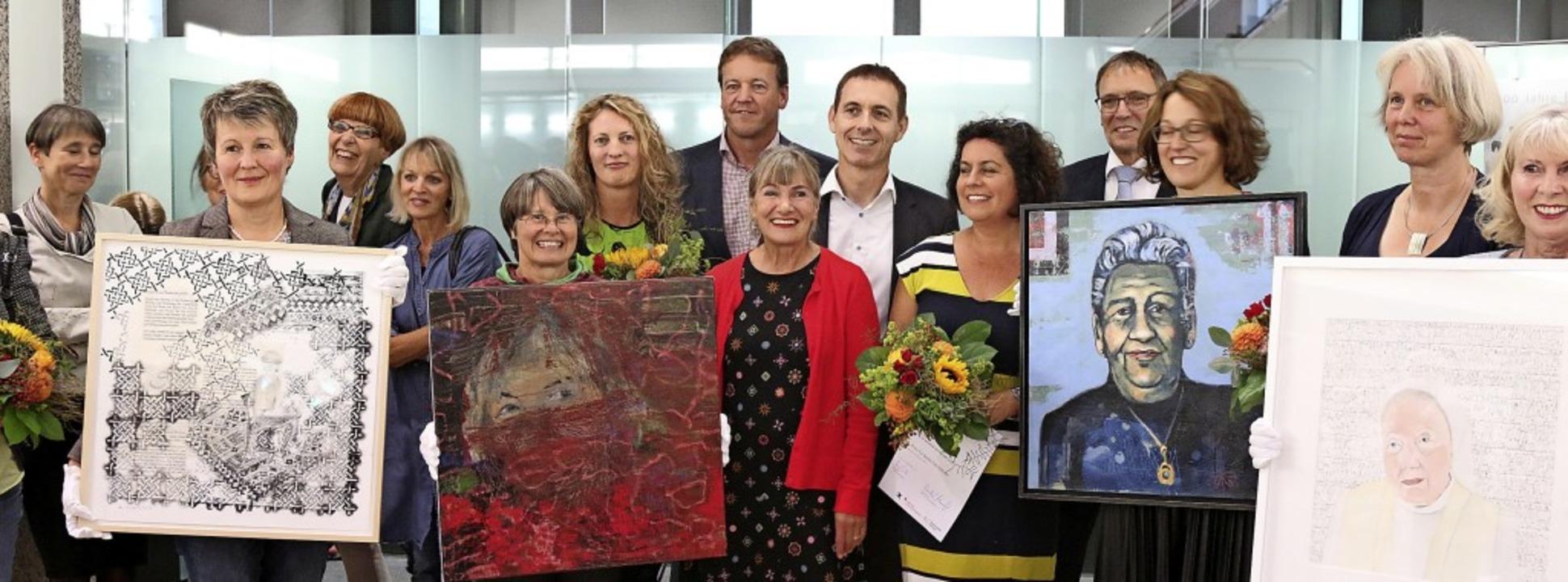 Die Gewinnerbilder (von rechts): Schwe...flin, Karin Maßen und Gudrun Schubert   | Foto: Katharina Bartsch
