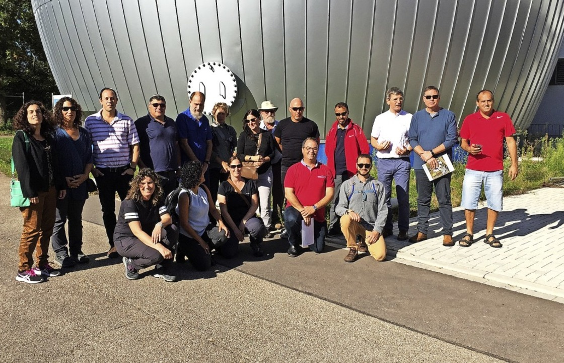 Eine  Gruppe israelischer von Umweltfa... besuchte das Klärwerk in Grezhausen.   | Foto: privat