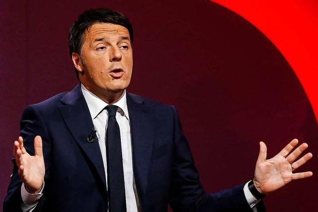 Italiens Ex-Premierminister Renzi verlässt die Sozialdemokraten