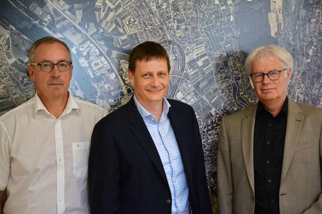 Sind zufrieden mit dem Ergebnis der Wo...tsführer Heiler und  Koger (von links)  | Foto: Hannes Lauber