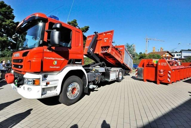 Die Denzlinger Feuerwehr hat ein neues und multifunktionales Fahrzeug
