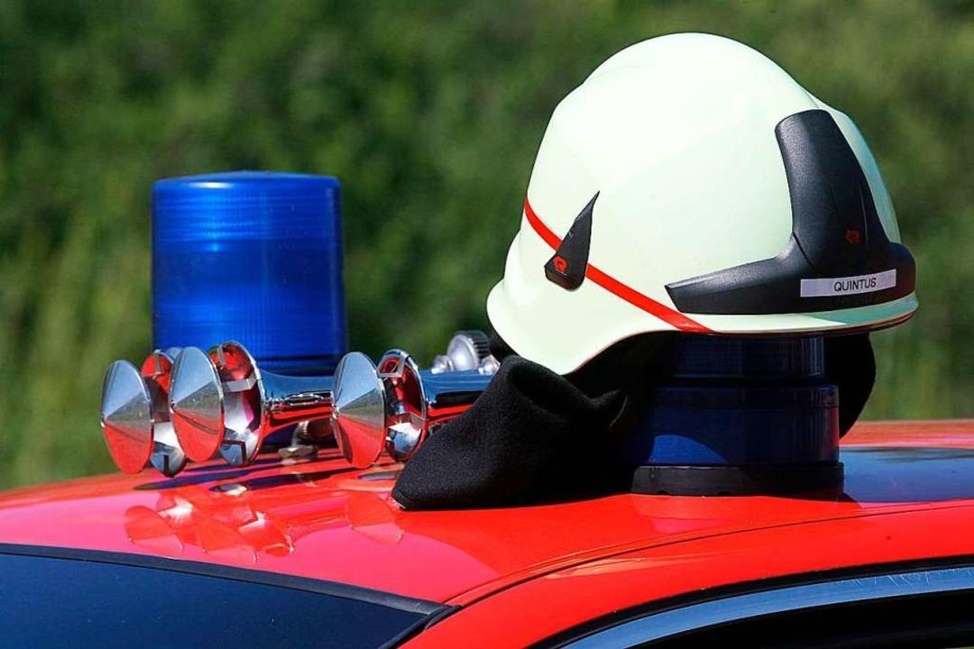Die Feuerwehr war mit dem Trockner schnell fertig.  | Foto: Patrick Seeger