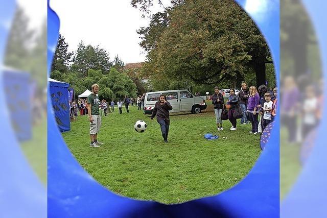 20 Sportstationen werden im Bürgerpark aufgebaut