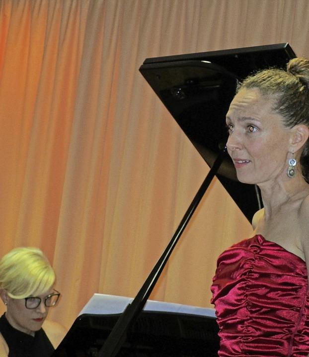 Koloratursopranistin Caroline Lafont mit  Pianistin Friederike Wild  | Foto: Renate Griesser