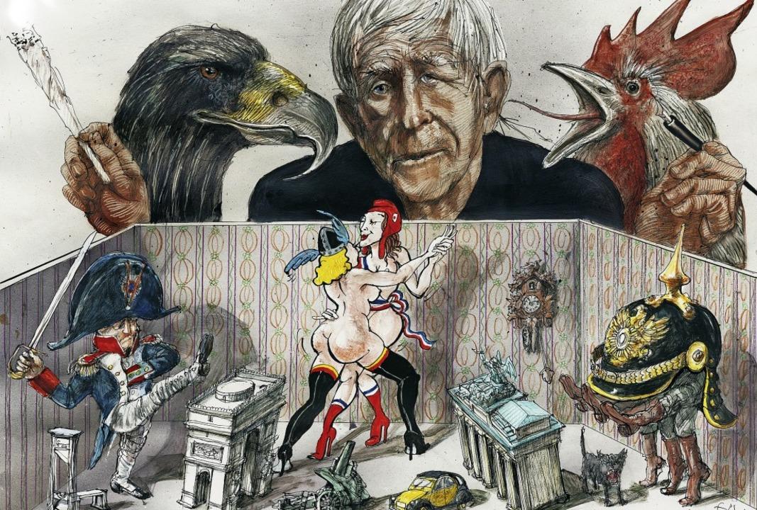 Den elsässischen Zeichner Tomi Ungerer...t sowie der Freundschaft porträtiert.   | Foto: Repro BZ