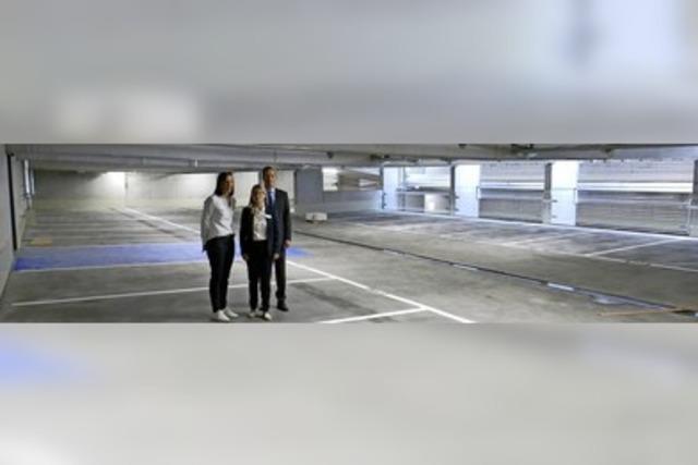 Parkhaus öffnet zum 1. Oktober
