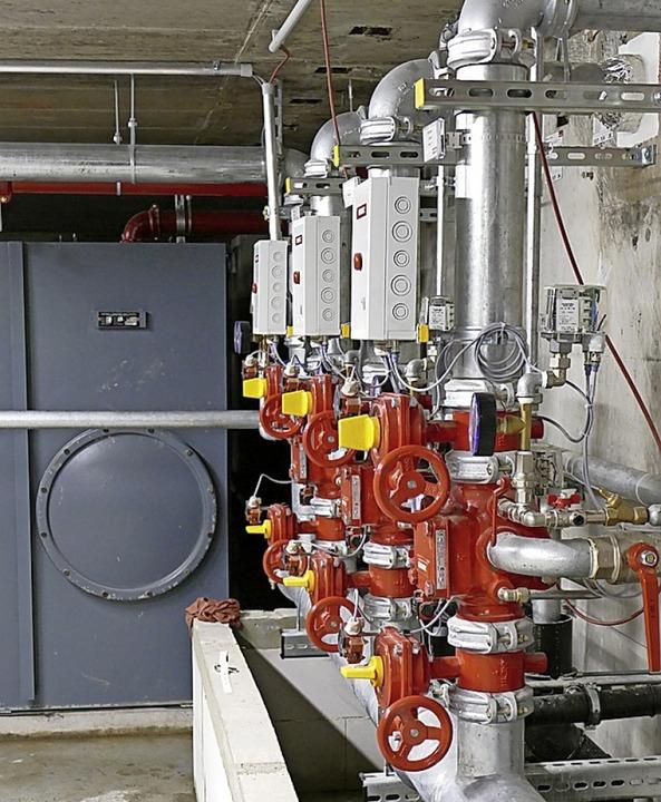 Im Untergeschoss sind der Wassertank u...ung der Sprinkleranlage untergebracht.    Foto: Marius Alexander