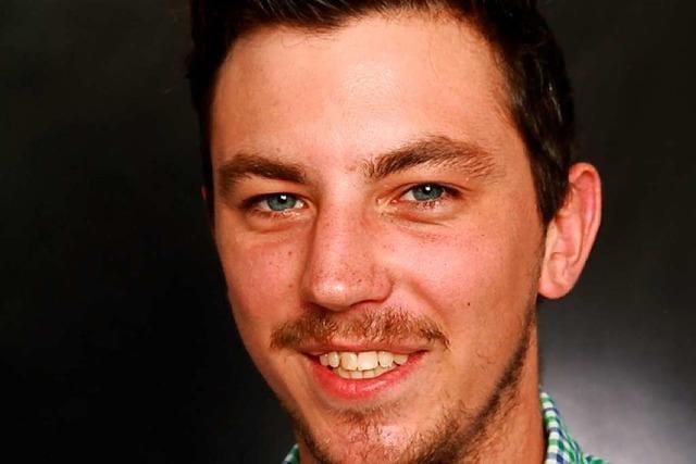 Der 26-jährige Lucas Lacher von Die Partei kandidiert in Müllheim