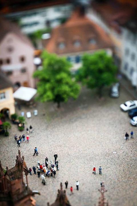 Perspektive auf den Münsterplatz von Dominic Sackmann, Presiträger 2010.  | Foto: Dominic Sackmann