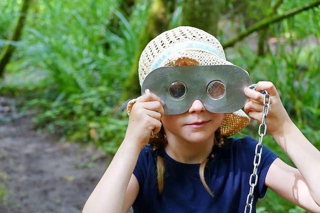 Auf dem Wasserpfad im Sulzbachtal werden Kinder zu Naturforschern