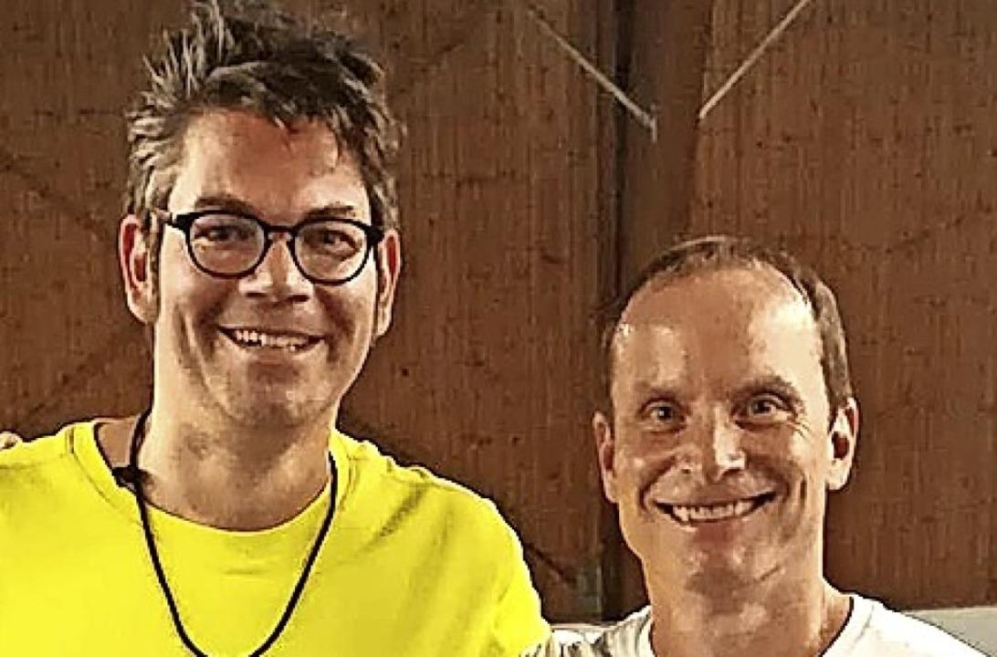 Carsten Winter (links) vom TC Neustadt... der Männer 40  gegen Thomas Kriebler.  | Foto: Thomas Ueber
