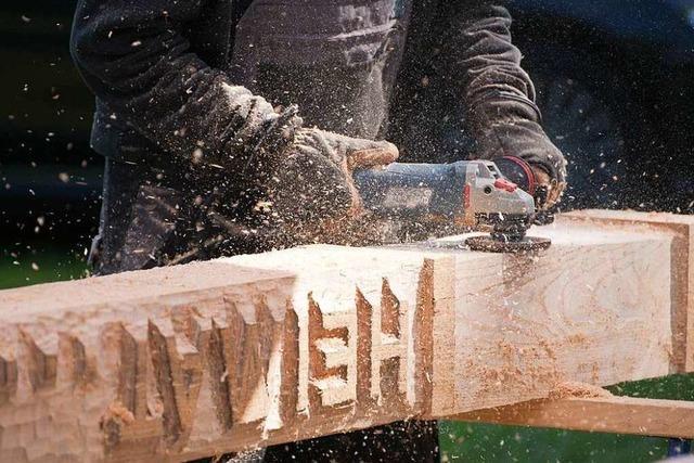 So arbeiten die Holzbildhauer im Kenzinger Bürgerpark