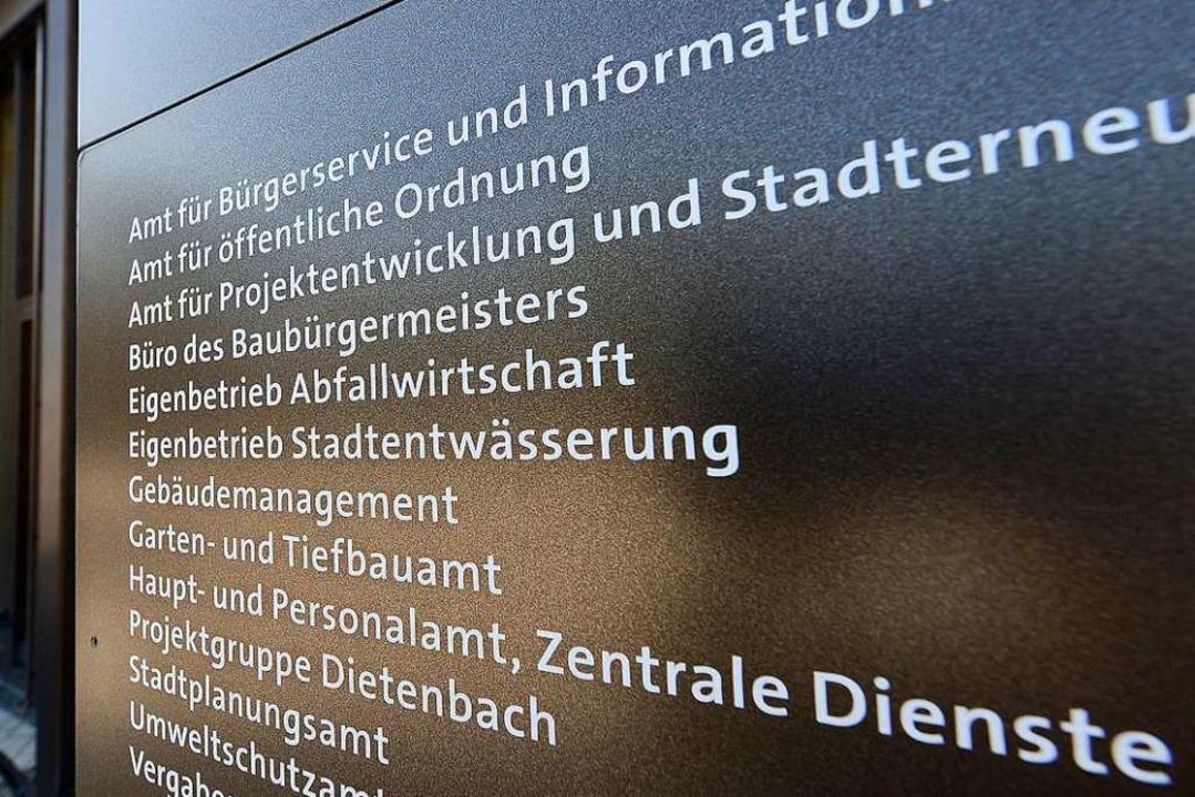 Räume des Gebäudemanagements im Rathaus im Stühlinger wurden durchsucht.  | Foto: Ingo Schneider