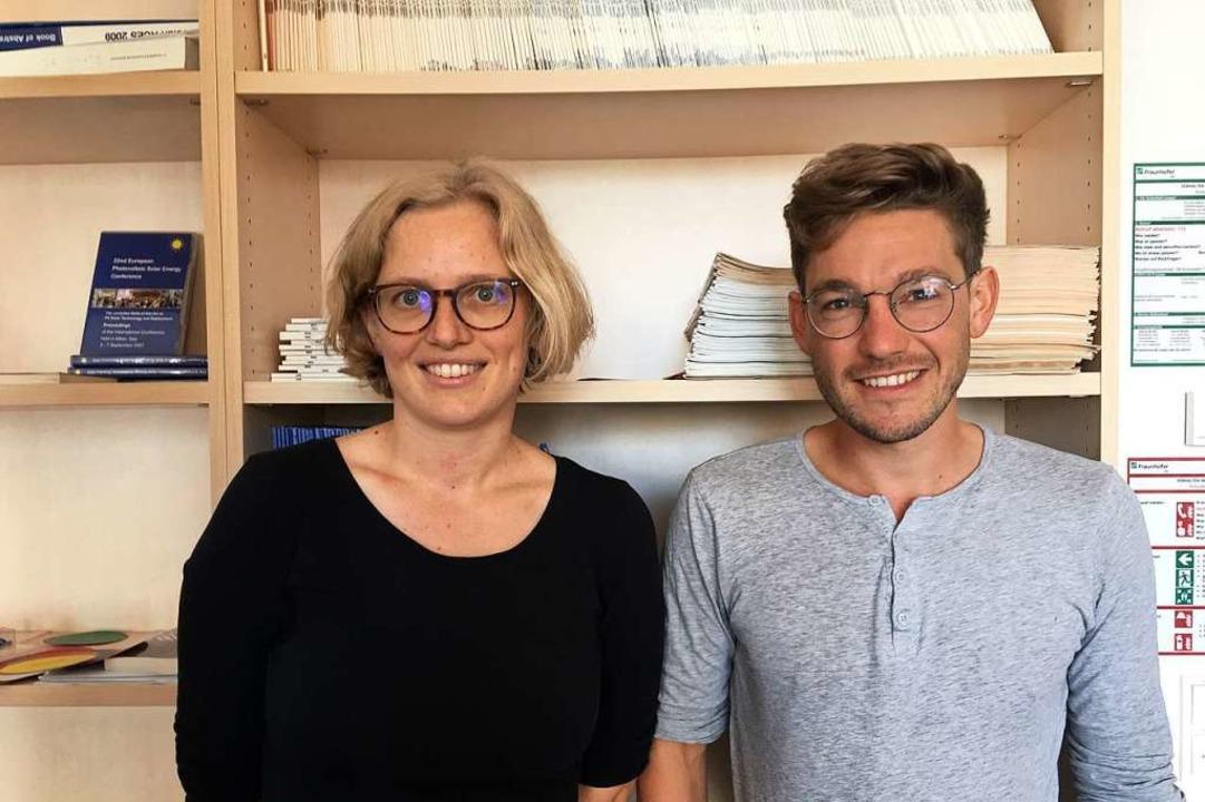 Mareike Blum und Manuel Lämmle von Scientists for Future  | Foto: Privat