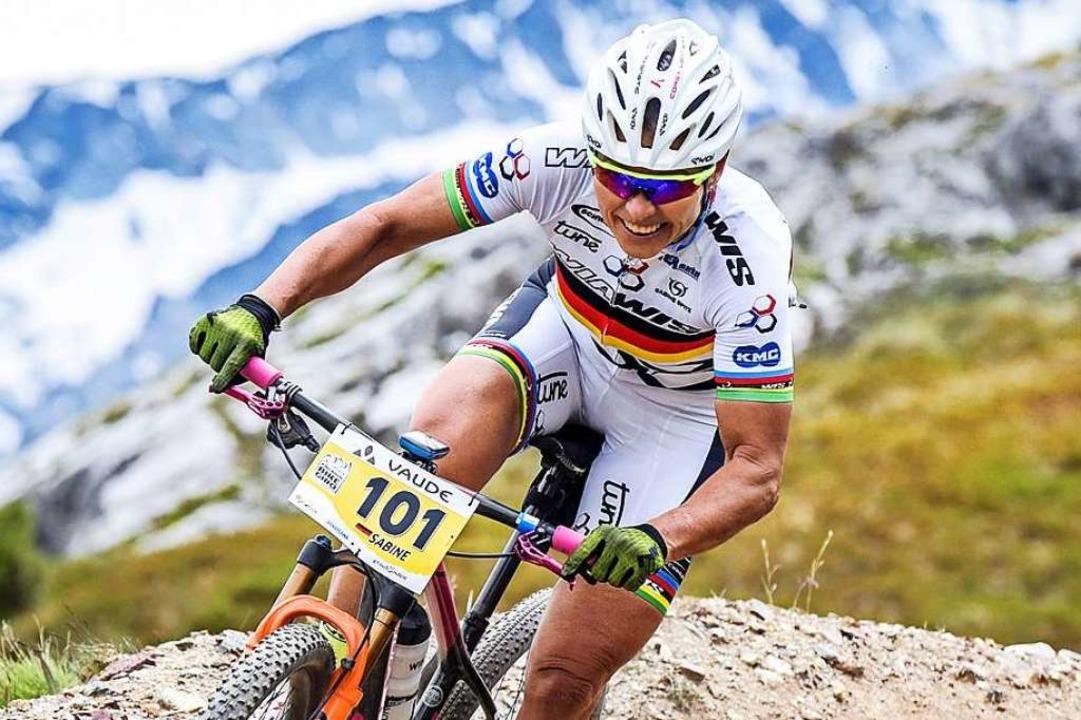 48 Medaillen bei großen Meisterschaften:  Sabine Spitz     Foto: Sportograph