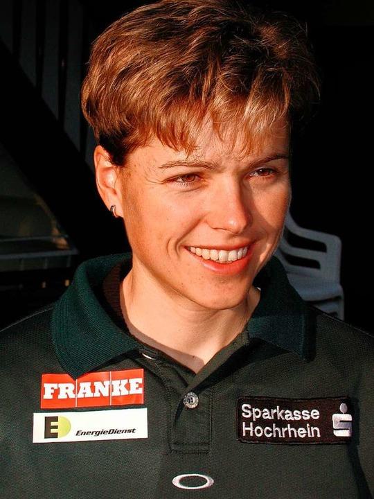 Sechs Jahre vor ihrem Olympiasieg: Sabine Spitz 2002     Foto: privat