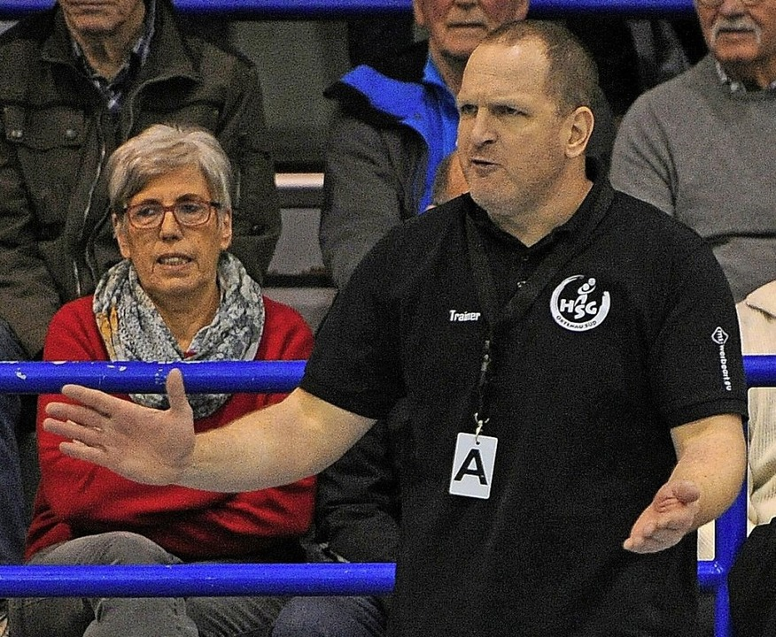 <BZ-FotoAnlauf>Südbadenliga:</BZ-FotoA...s Mal als Trainer des TV Herbolzheim.   | Foto: Pressebüro Schaller