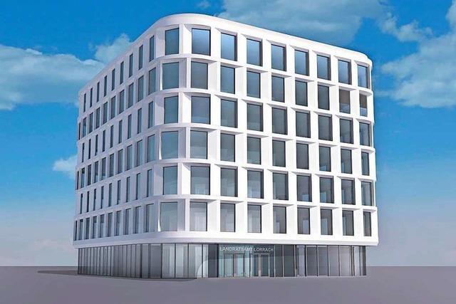 Die Baukosten für das neue Landratsamt in Lörrach sind vorerst geringer