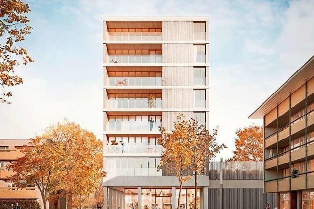 Das höchste Holzhaus Deutschlands entsteht in Freiburg-Weingarten
