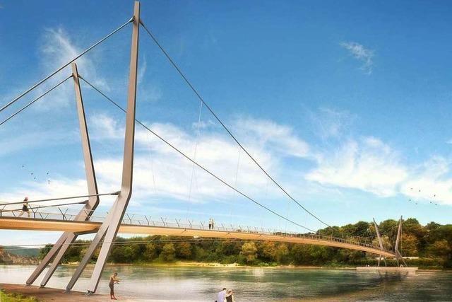 Die IG Pro Steg intensiviert die Werbung für den Rheinsteg in Rheinfelden