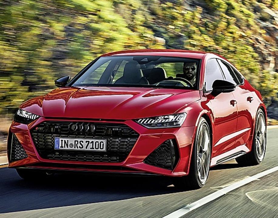 Hilft beim Anfahren und Beschleunigen:... Audi RS7 unterstützt den  Verbrenner.  | Foto: Audi AG (dpa)