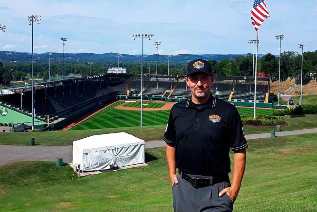 In Williamsport in Pennsylvania war Stefan Rohrbeck als Schiedsrichter.    Foto: privat