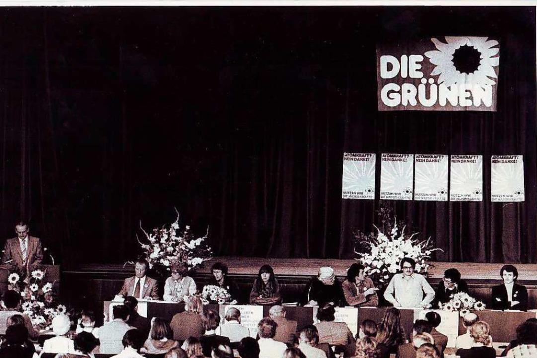 Der Gründungsparteitag in Sindelfingen am 30. September 1979  | Foto: Bündnis 90/Die Grünen Baden-Württemberg