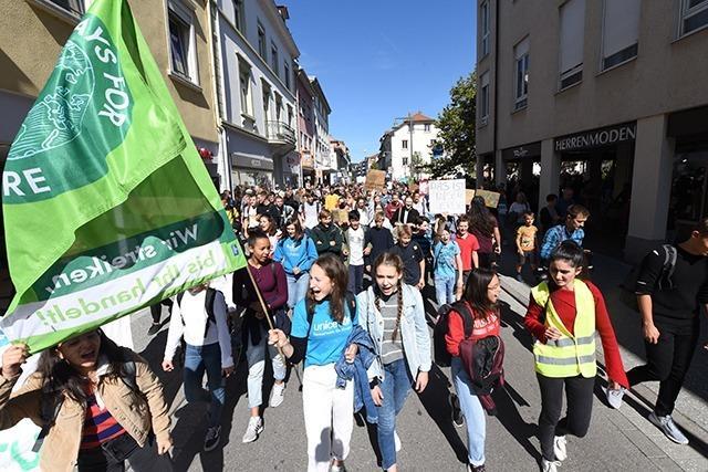 Fotos: 1500 Menschen kommen zum Klimastreik nach Lörrach
