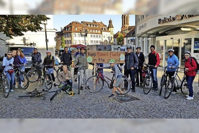 Fahrradkorso zur Klima-Demo