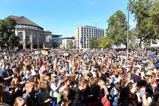 Fridays for Future stellt neuen Demo-Rekord in Freiburg auf