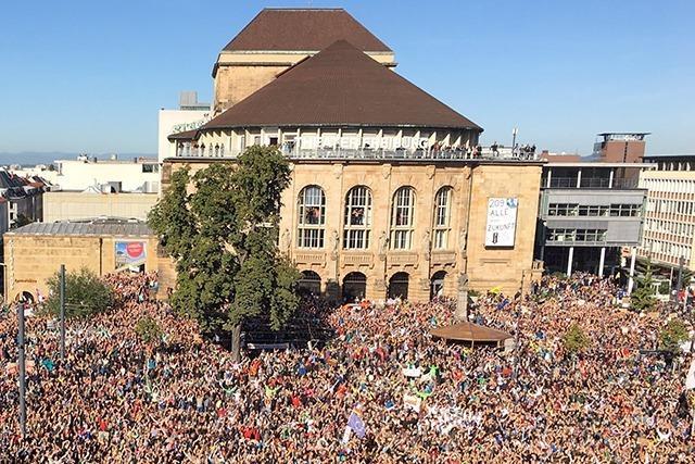 Liveticker zum Nachlesen: 20000 beim Klimastreik in Freiburg