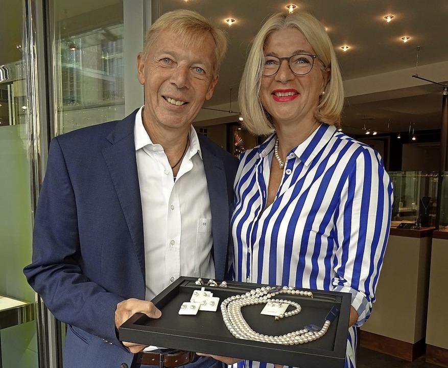 Stefan und Anne-Doris Müller Sie schließen ihr Juweliergeschäft  | Foto: Johanna Hoegg