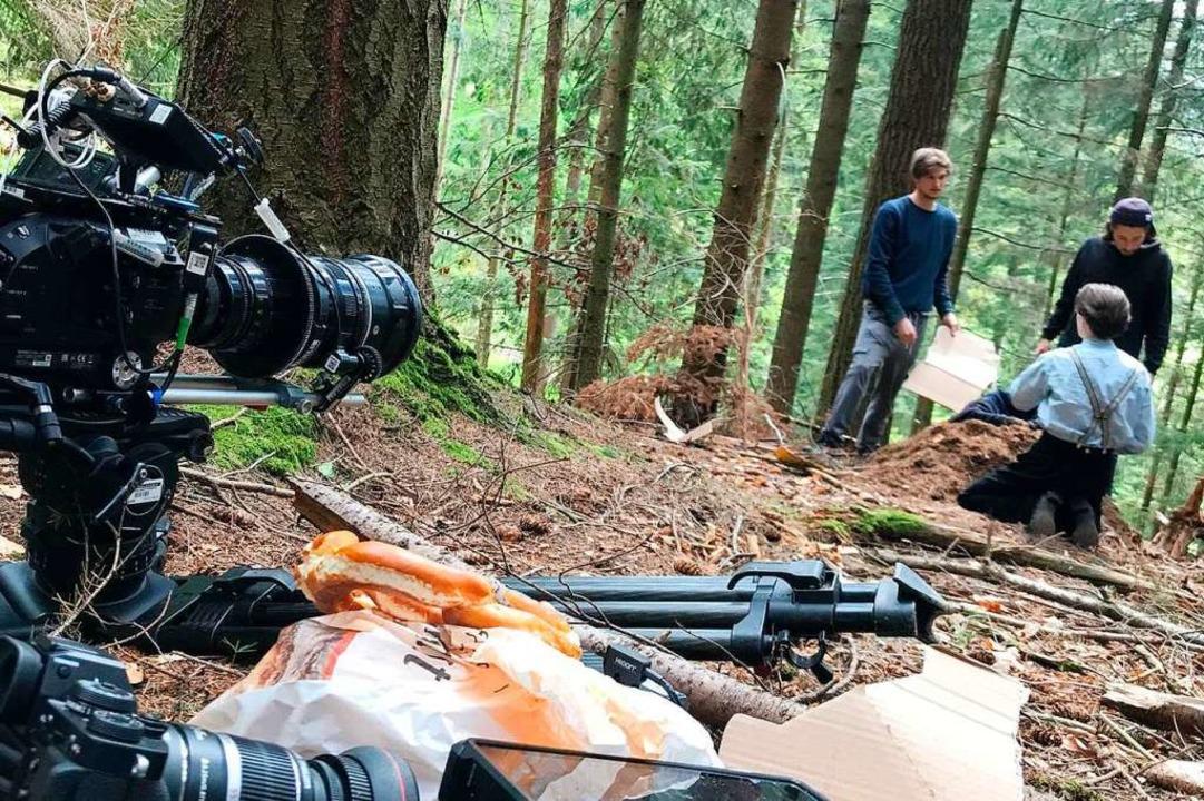 Die Dreharbeiten zum Kurzfilm über Schneckenburgers Großonkel  | Foto: Fabian Linder