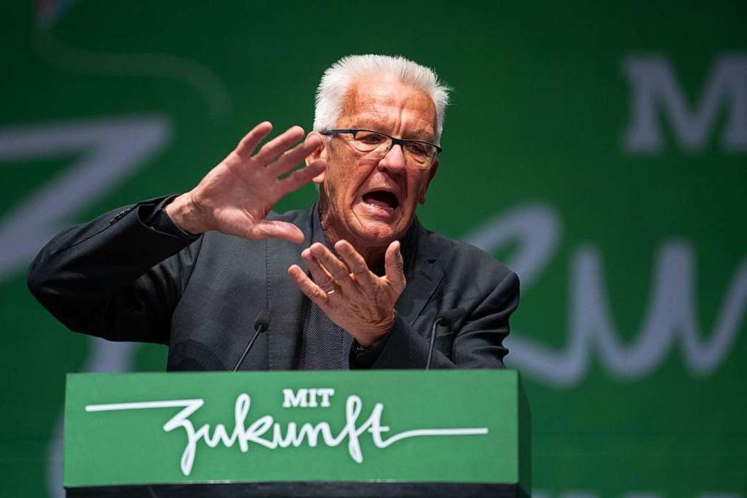 Winfried Kretschmann (Bündnis 90/Die G...ndnis 90/Die Grünen Baden-Württemberg.  | Foto: Sebastian Gollnow (dpa)